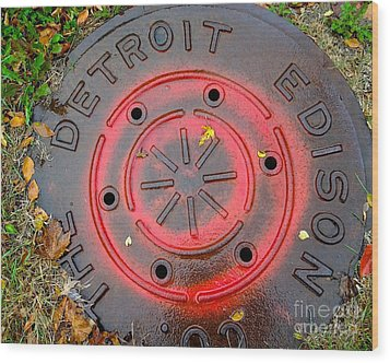 A Detroit Thing Wood Print