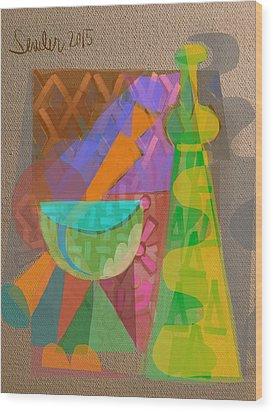 A Different Light Wood Print by Clyde Semler