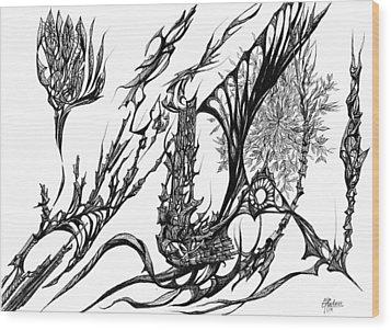 A Different Slant Wood Print