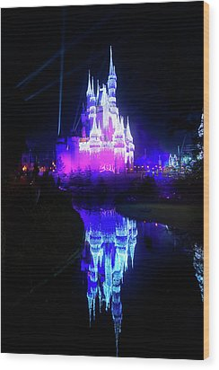 Wood Print featuring the photograph A Disney New Year by Mark Andrew Thomas