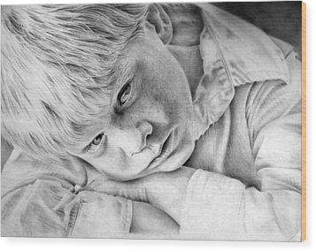 A Doleful Child Wood Print