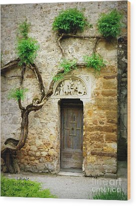 A Door In The Cloister Wood Print