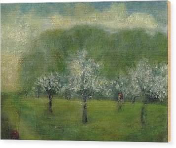 A Dream Of Apple Blossom Time Wood Print
