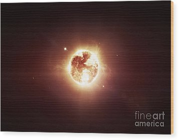 A Dying Star Which Will Soon Give New Wood Print by Tomasz Dabrowski