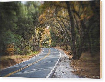 A Fall Roadway Wood Print