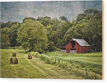 A Farmer's Pride Wood Print by Elizabeth Wilson