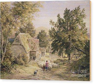 A Farmyard Near Princes Risborough Wood Print by Samuel Palmer