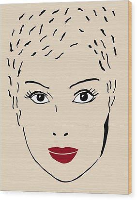A Fashion Model Wood Print by Frank Tschakert