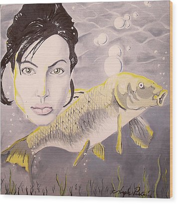 A Fish Named Angelina Wood Print by Joseph Palotas