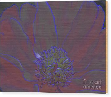Wood Print featuring the digital art A Flower For Alphonse by Roxy Riou