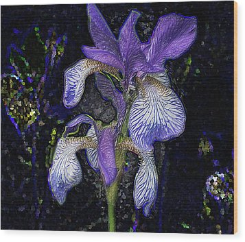 Wood Print featuring the photograph A Flower by Vladimir Kholostykh