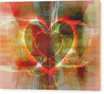 A Forgiving Heart Wood Print by Fania Simon