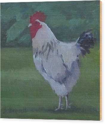 A French Rooster Wood Print
