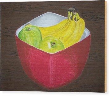 A Fruit A Day Wood Print by Sanchia Fernandes