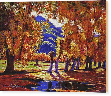 A Galaxy Of Autumn Color Wood Print by David Lloyd Glover