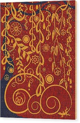 A Garden For Gustav Wood Print
