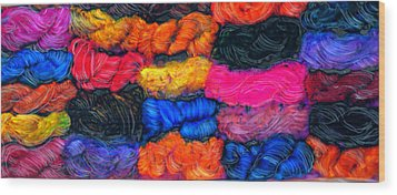 A Garden Of Yarn Wood Print by FeatherStone Studio Julie A Miller