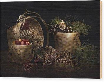 A Gathering Of Pine Wood Print by Tom Mc Nemar