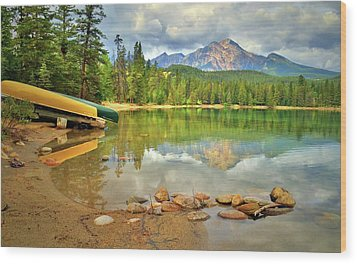 Wood Print featuring the photograph A Gentle Light At Lake Annette by Tara Turner