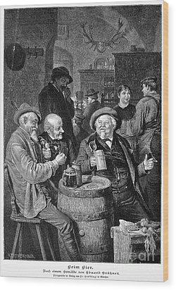 A German Tavern Wood Print by Granger