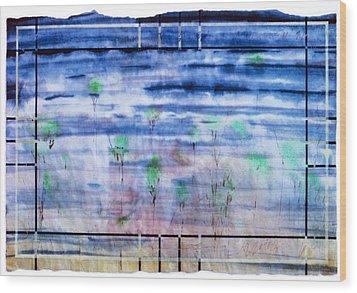 A Glimpse Wood Print by Tom Hefko