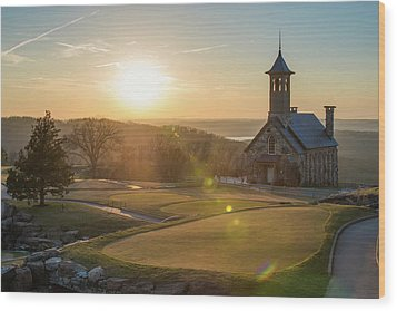 Wood Print featuring the photograph A Golfers Paradise - Top Of The Rock - Branson Missouri by Gregory Ballos