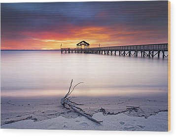 Wood Print featuring the photograph A Good Morning by Edward Kreis