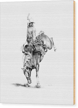A Good Ride Wood Print by Karen Elkan