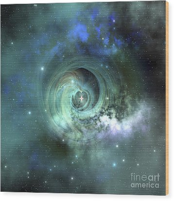 A Gorgeous Nebula In Outer Space Wood Print by Corey Ford