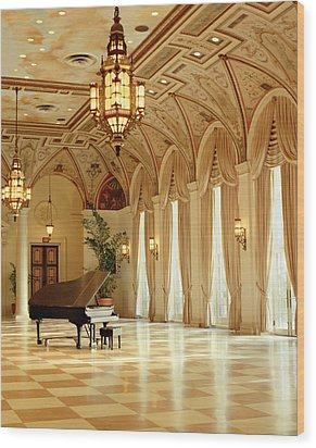 A Grand Piano Wood Print by Rich Franco