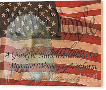 Wood Print featuring the photograph A Grateful Nation by Ken Frischkorn