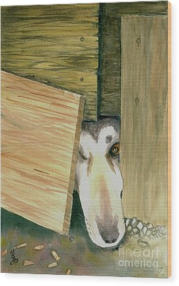 Wood Print featuring the painting A Great Escape  -variation 2 by Yoshiko Mishina