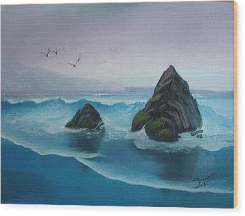 A Grey Day Wood Print by Tobi Czumak