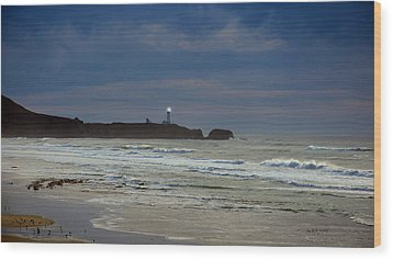 Wood Print featuring the photograph A Guiding Light by Jim Walls PhotoArtist