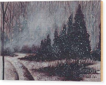 A Hazy Shade Of Winter  Wood Print