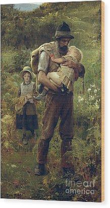 A Heavy Burden Wood Print by Arthur Hacker