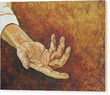 A Helping Hand Wood Print