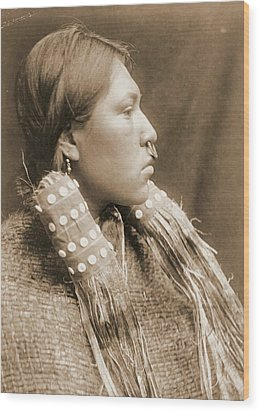 A Hesquiat Maiden 1910 Wood Print by Padre Art