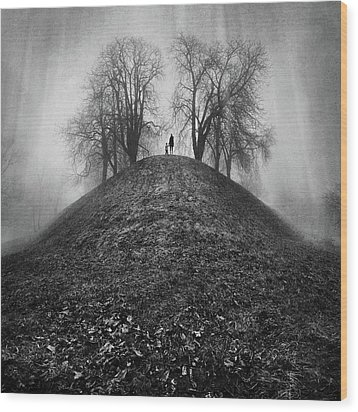 A Hope For The Eternal Presence Of Distant Places Wood Print by Ioannis Lelakis