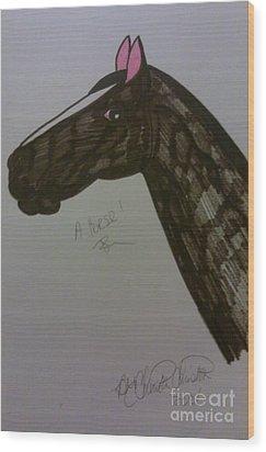 A Horse Wood Print