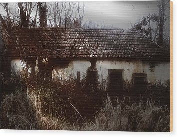 Wood Print featuring the photograph A House In The Woods by Mimulux patricia no No