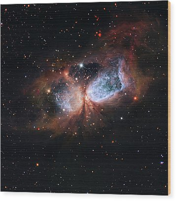Wood Print featuring the photograph A Composite Image Of The Swan by Nasa