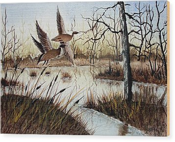 A 'jerry Yarnell' Study Wood Print by Jimmy Smith