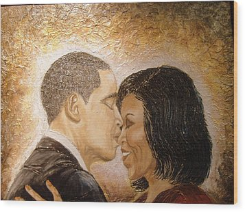 A Kiss For A Queen  Wood Print by Keenya  Woods