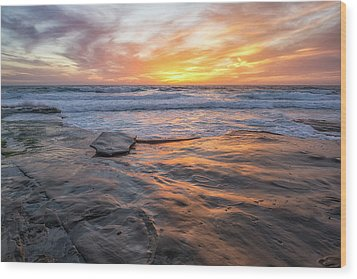 A La Jolla Sunset #2 Wood Print