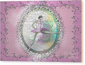 A La Second Pink Variation Wood Print by Cynthia Sorensen