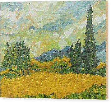 A La Van Gogh Wood Print by Diane Arlitt