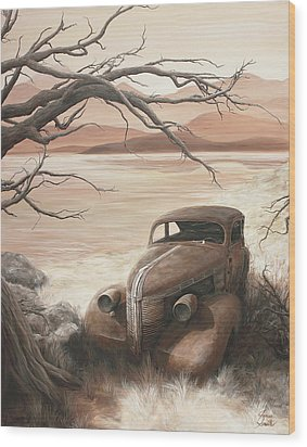 A Lakeshore Drive Wood Print by Janice Smith