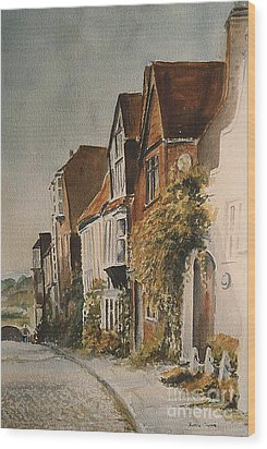 A Lane In Rye Wood Print by Beatrice Cloake