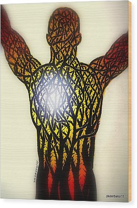 A Light In The Midst Of So Much Suffering Wood Print by Paulo Zerbato
